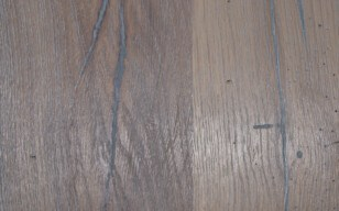 Altholzplatte - grau geölt, schwarz gekittet