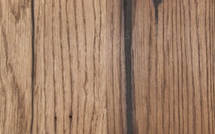 Altholzplatte - Nussbaum geölt, schwarz gekittet